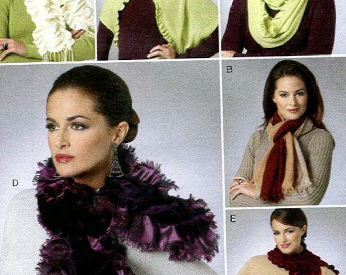 Free US SHIP Vogue Accessories 8702 Neck Scarf Scarves Boa Eternity Ring Shrug Bolero New Old Store Stock New FF Sewing Pattern