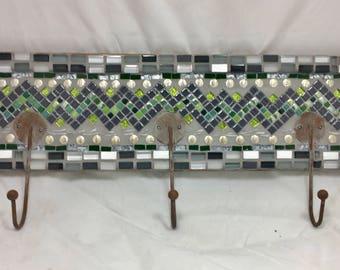 Mosaic wall hooks