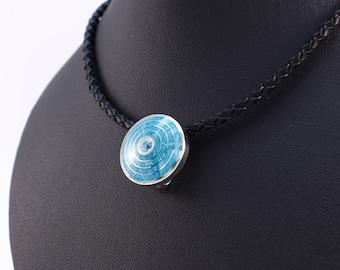Silver pendant enamel cloisonne pendant guilloche vitreous enamel pendant gemstone silver enamel topaz jewelry cloisonne enamel jewelry set