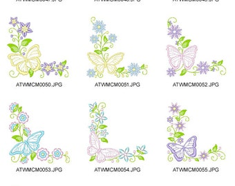 Delicate-Butterflies. ( 10 Machine Embroidery Designs from ATW )