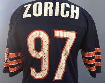 90s Vintage Chris Zorich #97 Chicago Bears GSH NFL football Champion Jersey T-Shirt - MEDIUM