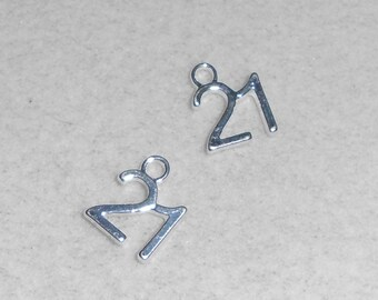"""Silver Number  """"21""""  Charms"""