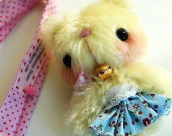 mini Japanese anime teddy bear - OOAK artist bear and friends pattern and by Jenny Lee of jennylovesbenny bears PDF
