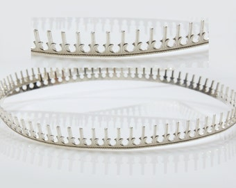 12 Inch (30.5cm) x 6mm Width Sterling Silver 935 Strip Gallery Decorative Ribbon, Pattern wire (C000117)