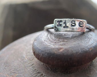 simple truths ring - rise -  sterling silver