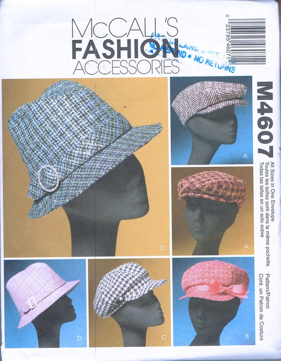 Women\'s Hat Sewing Pattern - Misses\' Fedora Hat Pattern - Misses ...