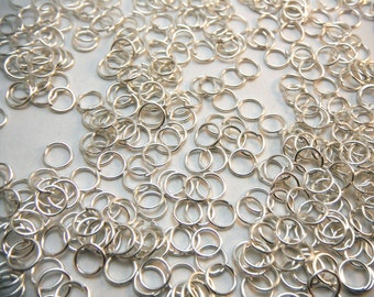 Silver Jump Rings 6mm Diameter (Quantity 200) RING006