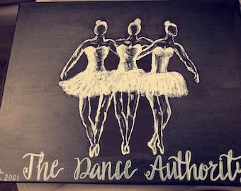 Customized dance studio art