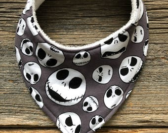 Bandana Bib, Bib, Baby Bib, Baby Bib, Drool Catcher, Nightmare Before Christmas Bib, Drool Bib