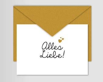"Post card greeting card wedding card birthday card ""Love"""