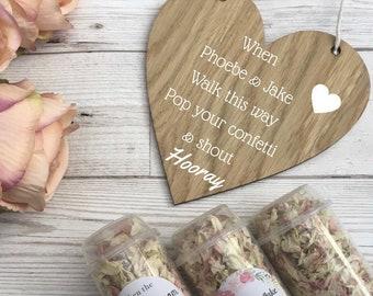 Confetti oak heart plaque