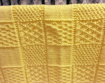 Baby blanket bright yellow 29 ins x 25 ins