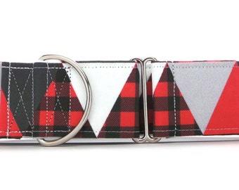 Winter Triangles Pet Collar (Martingale, Buckle, or Tag)