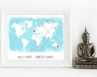 love map, personalised map, personalised world traveller map, travel adventure, personalised world map, personalised world, map print