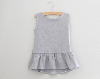 Girls Peplum Ruffle Tank, Ruffle Peplum, Summer tank, Girls Clothing, Baby Clothing, kids shirt, Ruffle Tee, Kids Apparel & Baby Apparel