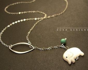 Collier sautoir éléphant, éléphant pendentif sautoir en argent éléphant blanc breloque, collier avec breloque éléphant minuscule