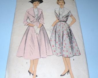 1950s ADVANCE 6986 Bolero and Skirt Pattern Junior 17 Complete