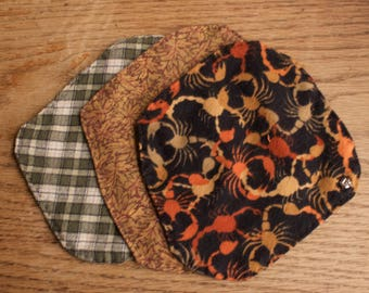 Scorpio Autumn Set of 3 Reusable Pads