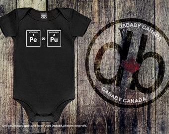 Periodic table baby etsy funny baby clothes periodic table scientific bodysuit geek baby shower gift hospital urtaz Images