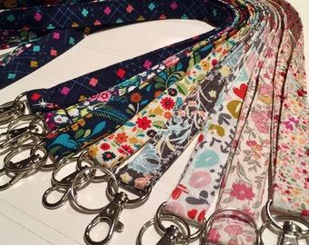 Lanyard, Fabric Lanyard, ID Badge Holder, Key Holder - Choose your design [61-68]