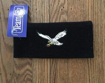 Vintage 90s Deadstock Philadelphia Eagles NFL Knit Headband Winter Hat Cap * Made In USA