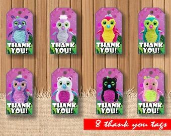 Digital Hatchimals thank you tags| printable Hatchimals birthday|  Hatchimals decor| Hatchimals decor| Hatchimals children party