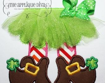 St Patrick's Day Tutu Leprechaun Embroidery Design Machine Applique