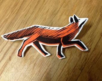The Fox - Illustrated Brooch