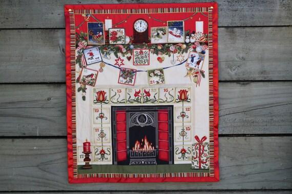 Art Deco Advent Calendar : Advent calendar art deco fireplace christmas countdown