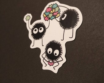 Sneaky soot sprites sticker