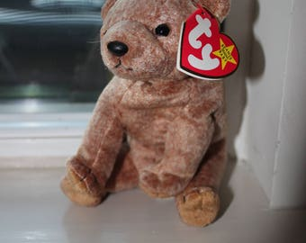Rare Pecan Beanie Baby with Tag errors! Mint Condition
