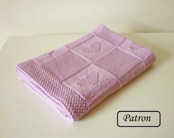 Couverture bébé patron / patron tricot / patron tricot bébé