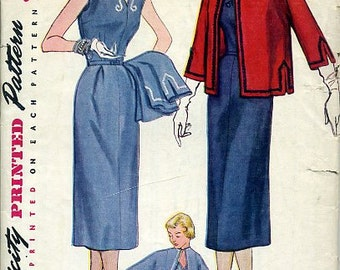 Simplicity 4202 sewing pattern // slim fitting dress and jacket