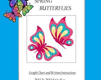 Spring Butterflies - Crochet Graphghan Pattern