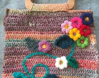Handmade crocheted bag