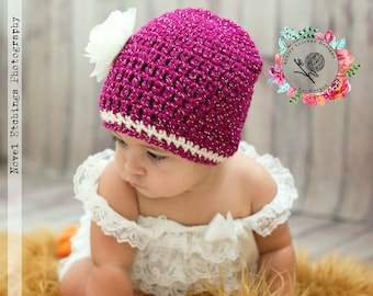 Crochet Pattern Glamour Beanie (Newborn - Adult) - PDF - Instant Digital Download