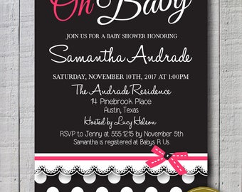 Baby Shower Invite, Baby shower for girls printable invitation for baby shower, baby coming up! Oh baby invitations