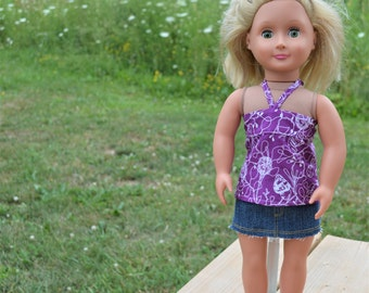 Fits American Girl - Miniskirt, Bandeau Top, and Sandals