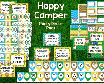 Happy Camper Party Decor Pack   **Boys & Girls**