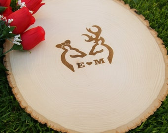 Guest Book Slice for rustic wedding