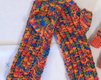 Gloves Wrist Warmers Fingerless  Hand Knitted