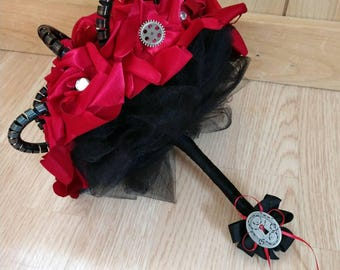 Steampunk/gothic bridal bouquet
