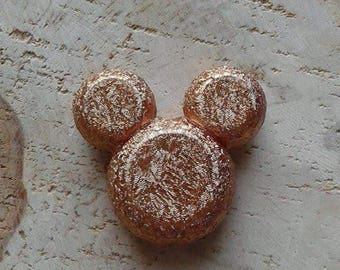 Pearl gold embossed acrylic Mickey head