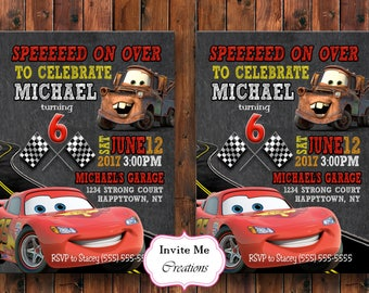 Cars invitation Etsy