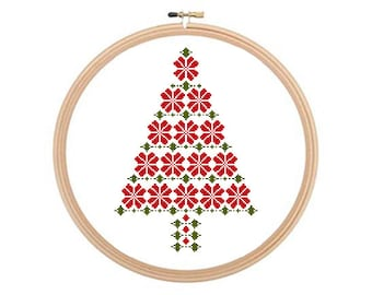 Christmas Tree - Christmas cross stitch pattern PDF, Christmas Pattern, Holiday Pattern, Winter Cross Stitch, Christmas Xstitch