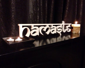 Namaste Sign- Home decor sign , Yoga sign