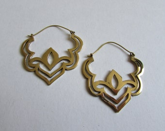 Brass Tribal Earrings, Earrings handmade,Bohemian Earrings with clasp, Nickel Free, Indian Jewellery, Gift boxed,Free UK postage BG4