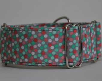 "Greyhound Grey Confetti 2"" Martingale Collar"