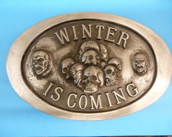 Game Of Thrones Winter Is Coming  White Walkers Night King The Wall plaque
