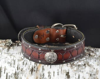 2. Viking Rune Collar w/ Concho